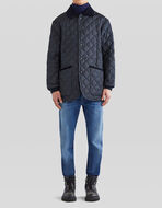 PAISLEY PRINT QUILTED JACKET