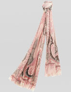 PAISLEY PRINT CASHMERE SCARF
