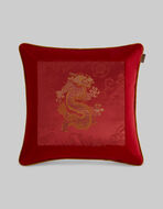 VELVET CUSHION WITH DRAGON
