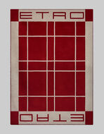 格纹图案真丝盖毯
