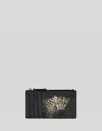 LEOPARD DESIGN PAISLEY CARD HOLDER