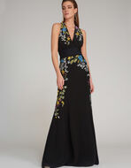 EMBROIDERED LONG DRESS