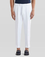 LINEN TROUSERS WITH TUCKS