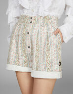 STRIPED PAISLEY PATTERN SHORTS