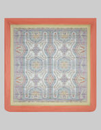 SATIN QUILT WITH PAISLEY DECORATIONS