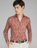 PAISLEYプリント コットンシャツ
