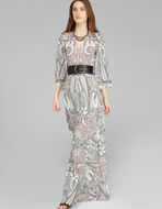 PAISLEY花纹长款连衣裙