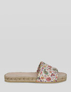 FLAT LEATHER PAISLEY SANDALS