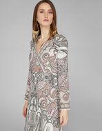 PAISLEY PRINT WRAP DRESS