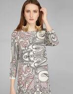 PAISLEY PRINT JERSEY TUNIC DRESS