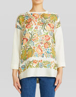 JUMPER WITH FLORAL SILK INSERTS