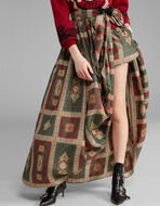 NECKWEAR-PRINT SILK LONG SKIRT
