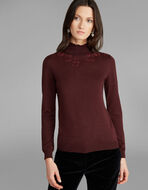 JUMPER WITH SEQUIN EMBROIDERY