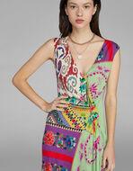 パッチワークプリント ドレス