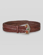 LEATHER BELT WITH JEWEL BUCKLE
