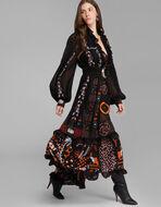 刺繍入りロングドレス