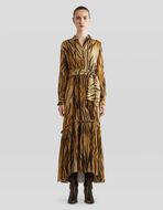 アニマル柄プリント シルク ドレス