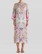 LONG NAÏF PAISLEY PRINT DRESS