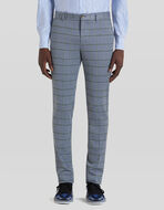 CHECK JERSEY TROUSERS
