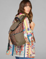 PAISLEY-PRINT BACKPACK WITH JACQUARD DETAILS
