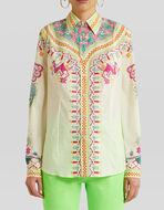 朴素风格图案棉质衬衫