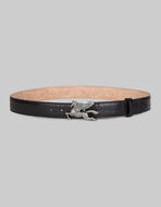 LEATHER BELT WITH PEGASO JEWEL BUCKLE
