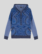 PAISLEY PRINT HOODED SWEATSHIRT