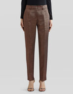 METALLIC TAILORED TROUSERS