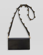 CROWN ME LEATHER PURSE WITH SHOULDER STRAP