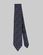 微型PAISLEY图案丝质领带