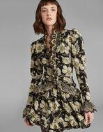 フローラルプリント シルクドレス