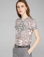 PAISLEYプリント Tシャツ
