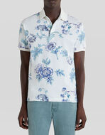 FLORAL PATTERN PIQUET POLO SHIRT