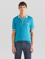 COTTON AND CASHMERE KNIT POLO SHIRT