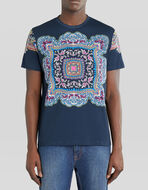JERSEY T-SHIRT WITH SCARF PRINT