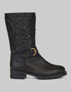 TEXTURED PAISLEY-PRINT BOOTS