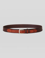 LEATHER BELT WITH DOUBLE LOOP