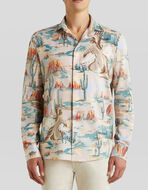 COTTON SHIRT WITH DESERT PRINT