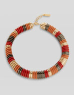 COLLAR NECKLACE WITH MULTI-COLOUR ELEMENTS