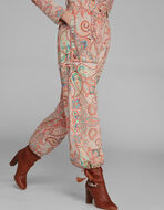 PAISLEY PRINT TROUSERS WITH TASSELS