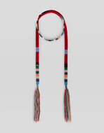 MULTI-COLOUR COLLAR NECKLACE WITH TASSELS