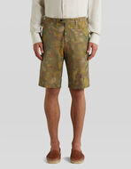 COTTON BERMUDAS WITH TIGERS AND WATER LILIES