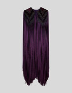CAPE WITH EMBROIDERY AND FRINGE