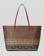 CARPET PRINT PAISLEY SHOPPING BAG
