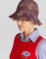 PAISLEY PATTERN RAFFIA HAT