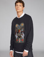 EMBROIDERED JERSEY SWEATSHIRT