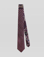 STRIPED TWO FABRIC TIE