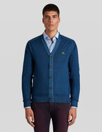 WOOL CARDIGAN WITH EMBROIDERED PEGASO