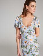 フローラルプリント ロングドレス