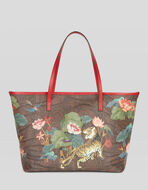 TIGER AND WATER LILY SHOPPING BAG